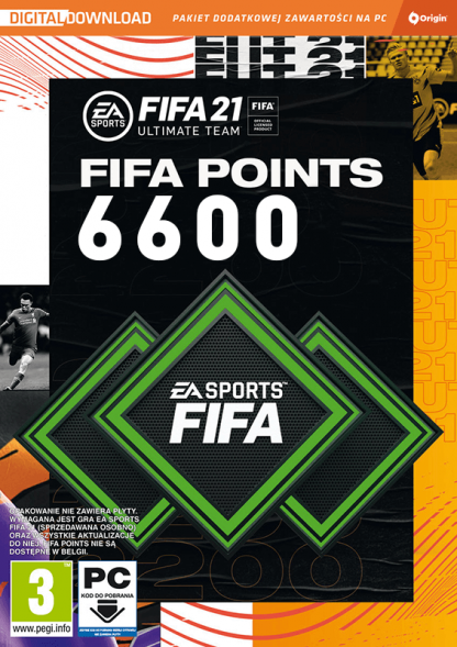 fifa 21 6600 fifa points pc