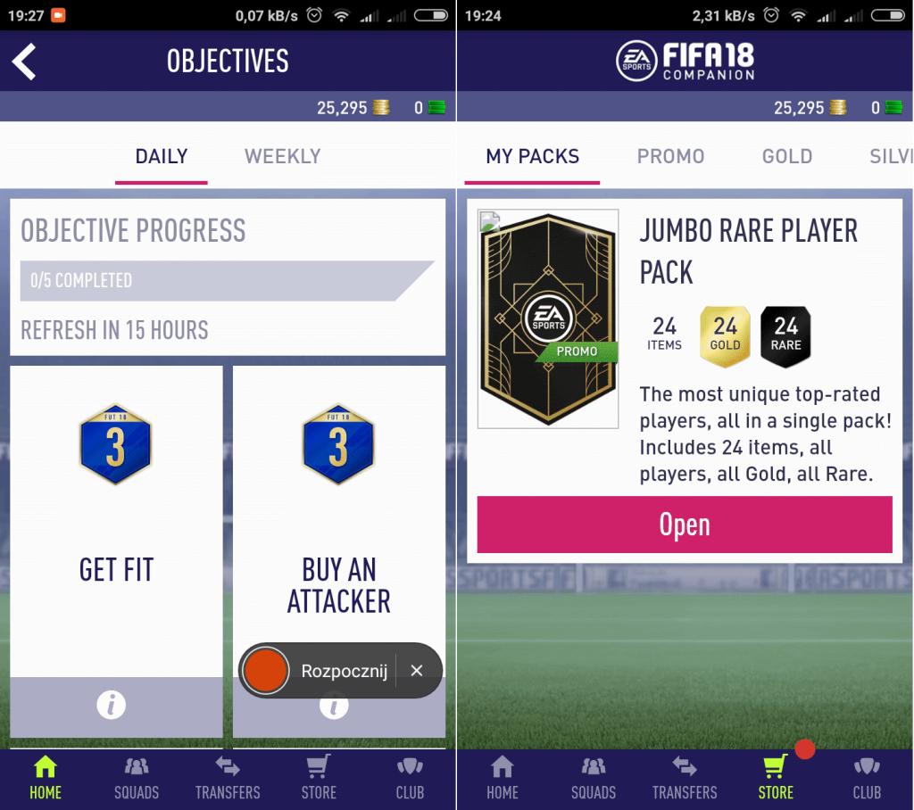 aplikacja FIFA