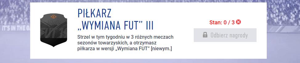 zadania wymiana FUT marzec FIFA 19
